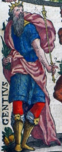 Gentius (2e eeuw v. Chr.), koning van Illyrië, die volgens Dioscorides en Plinius de geneeskrachtige eigenschappen van de (gele) gentiaan (Gentiana lutea) zou hebben ontdekt